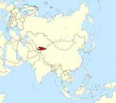 Map Of The Asia by Large Location Map Of Kyrgyzstan In Asia Kyrgyzstan Asia