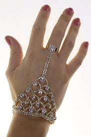 rose gold hand bracelet images Indian diamante hand ring bracelet rose gold jpg