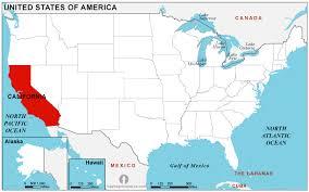 california map in usa california location map location map of california state usa