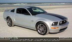 Silver Mustang Black Rims 2008 Gt Options Package