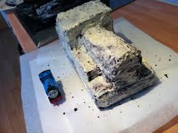 thomas the tank engine cake face full of cake