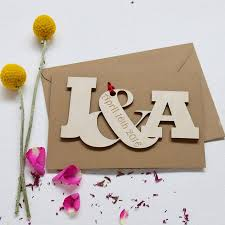 personalised initial letters wedding anniversary card by hickory