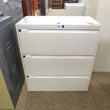 Used Lateral File Cabinets Used Teknion 3 Drawer 36 Lateral File Cabinet Fil1497 004