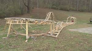 roller coaster for backyard 16 year old builds roller coaster in backyard