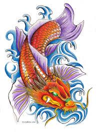 carp fish tattoo blue dragon fish tattoo design sample