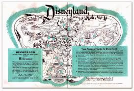 disney park maps disney avenue disneyland map evolution 1955 2015