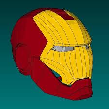 iron man helmet paper model tektonten papercraft