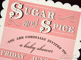 sugar and spice baby shower puppy dogs tails sugar and spice invitation collections