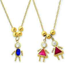 birthstone pendants for 14k gold kids birthstone charm necklaces with cz gemstones only