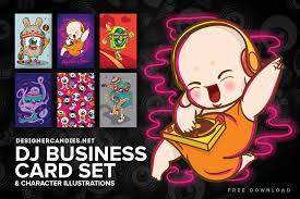 free dj characters u0026 business card set designercandies