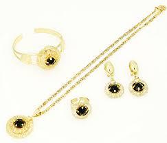gold sets images tripleclicks 18k gold women purple rhinestone gold