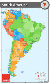 free political simple map of south america