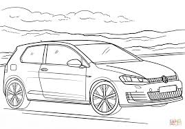 volkswagen golf gti coloring page free printable coloring pages