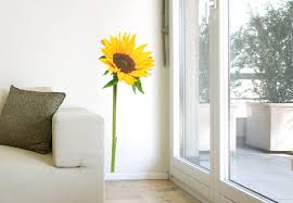 Sunflower Wall Decal Beautiful floral Home Decor