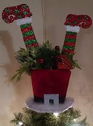 santa s top hat tree topper top hat tree