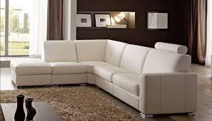 canap d angle blanc canapé angle en simili cuir vachette blanc