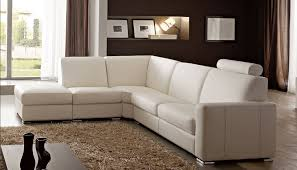 canap cuir beige canapé angle en simili cuir vachette blanc