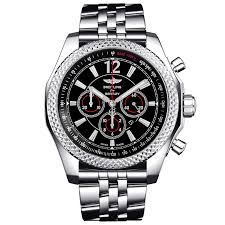 breitling steel bracelet images Breitling for bentley b06 18ct red gold 49mm black leather strap watch jpg