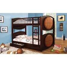 furniture of america basketball twin over twin bunk bed with