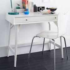 Mini Computer Desk Mid Century Mini Desk White West Elm
