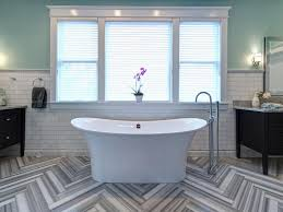 unique bathroom flooring ideas 15 simply chic bathroom tile design ideas hgtv