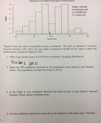 histogram of height population distribution shap chegg com