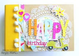 birthday photo album happy birthday mini album simple stories happy