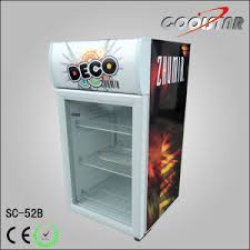 china desk top glass door small display fridge sc52b china