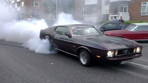 badass mustang badass burnout on public road 1972 mustang fastback that s how
