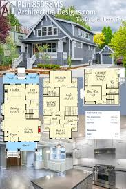 2400 Square Foot House Plans Plan 85058ms Handsome Bungalow House Plan Open Floor Bungalow