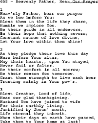 adventist hymnal song 658 heavenly hear our prayer with