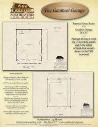 Gambrel Cabin Plans by Gambrel Roof Log Home Plans