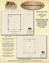 standard garage size premier log home series
