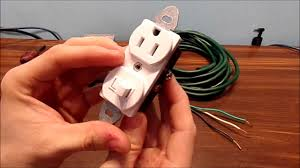 how to wire a switched outlet combo youtube
