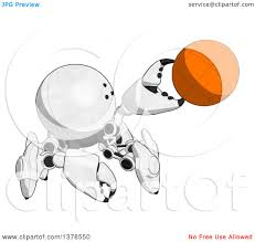 clipart of a cartoon crab like robot holding a ball royalty free
