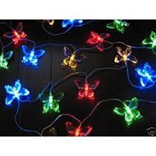 solar string lights aleko butterfly solar string lights 20 led light