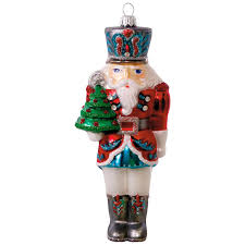 German Blown Glass Christmas Ornaments Traditional Nutcracker Blown Glass Ornament Specialty Ornaments
