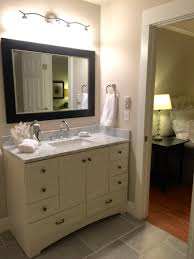 Allen Roth Vanity Lowes Bathroom Update Remodel On A Budget Benjamin Moore Edgecomb