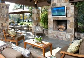 Outdoor Living Patio Ideas by Outdoor Living Room Ideas Modern With Stone Fireplace And Wooden