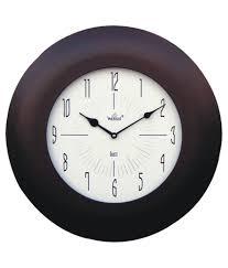 wertex brown wooden wall clock buy wertex brown wooden wall clock
