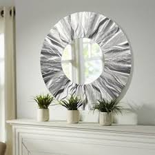 Wall Decor Mirror Home Accents Large Round Metal Wall Art Open Travel