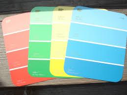 karen u0027s ideas galore paint chip color match scavenger hunt