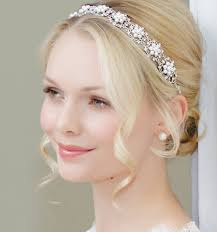wedding hair bands pearl wedding hair accessories for brides glitzy secrets