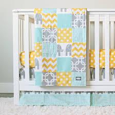 elephant in grey mint and yellow crib bedding u2013 giggle six baby