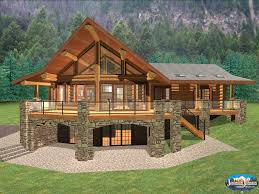 Walkout Basement Homes Log Cabin Quotes House Plans 43060