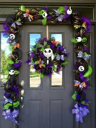 Decorated Christmas Door Wreaths by Nightmare Before Christmas Decorations Pumpkin King Pinterest