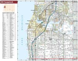 Michigan Township Map by Saugatuck Township Michigan