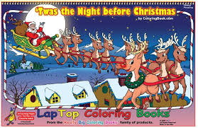 coloring books twas the night before christmas