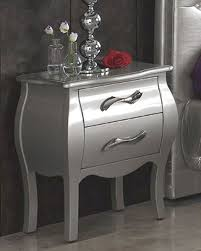 modern night stand in silver finish made in spain 33b283