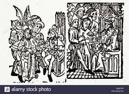 imagenes de jesus ante pilato w caxton 1505 w de worde boke de comforte jesús ante pilato un